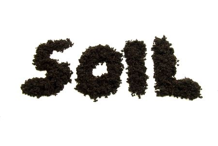 Soil text Stock Photo
