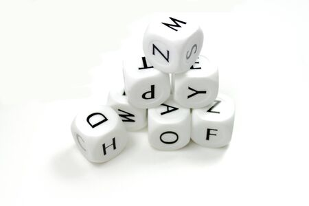 Dices with letters
