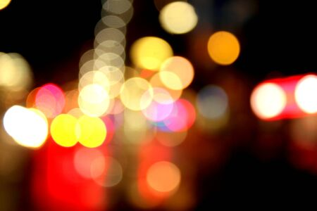 Blurred lights abstract color background photo