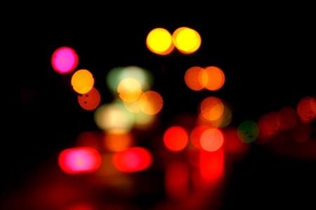 de focus: Blurred lights abstract color background
