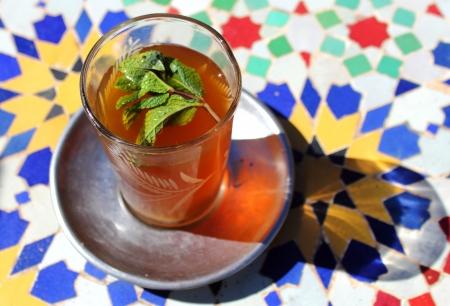 Mint tea in Morocco Stock Photo