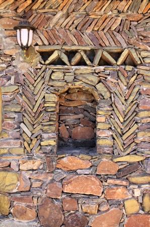 marocco: Stone wall, Anti Atlas Mountains, Marocco