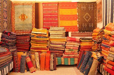 Oriental carpets in Marocco Stock Photo