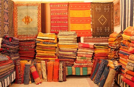 marocco: Oriental carpets in Marocco Stock Photo