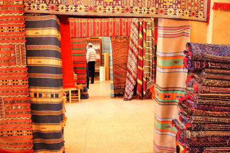 marocco: Traditional carpets, Tafraout city, Marocco Stock Photo