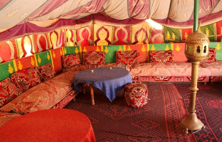 Traditional berber tent, Tafraout, Marocco