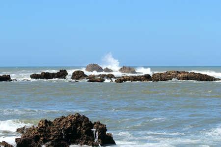 Rocky coast in Essaouira, Marocco