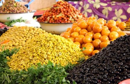 Food market in Agadir, Morocco