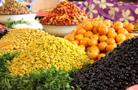 fruit trade: Food market in Agadir, Morocco