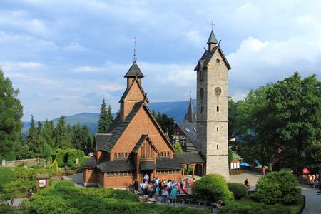 Wooden church Wang in Karpacz, Karkonosze Mountains, Poland