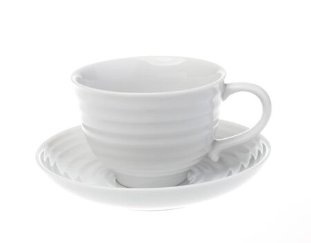 Coffee cup over white background Stock Photo