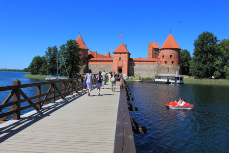 Trakai Island Castle is an island castle located in Trakai, Lithuania on an island in Lake Galve. The castle is sometimes referred to as Little Marienburg.
