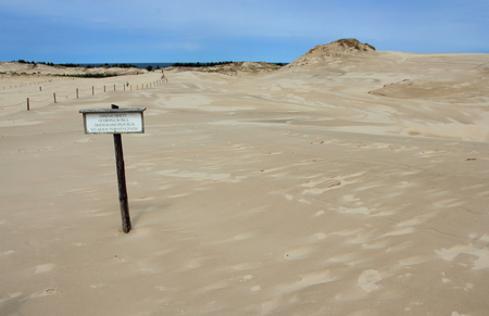 Sand dunes in Slowinski National Park,Poland
