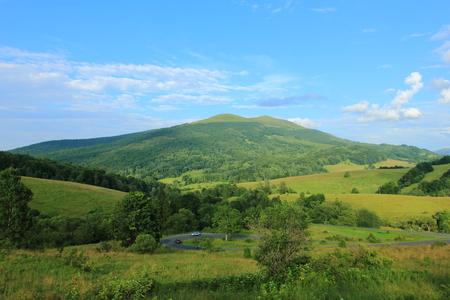 View on Polonina Carynska in Bieszczady Mountains, Poland