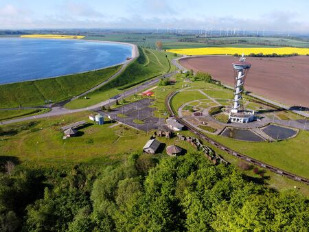 Observation Tower Kaszubskie Oko - lookout tower and tourist attraction Standard-Bild