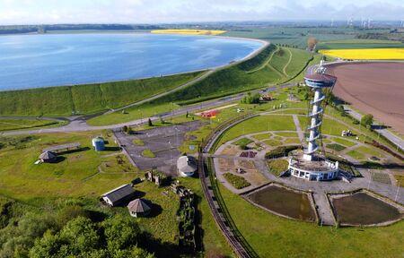 Kaszubskie Oko - lookout tower and tourist attraction near Lake Zarnowieckie, Poland