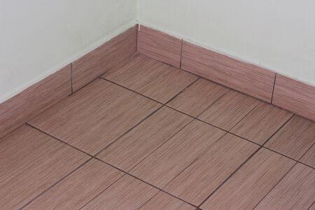 corridors: The floor tiles in the hallway of the building Stock Photo