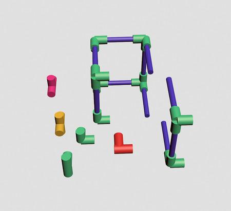 Build a plastic lattice 3D Stock Photo - 83572979