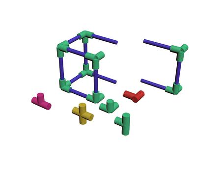 Build a plastic lattice 3D Stock Photo - 83572981