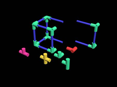 Build a plastic lattice 3D Stock Photo - 83572982