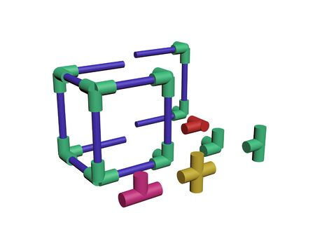 Build a plastic lattice 3D Stock Photo - 83572987