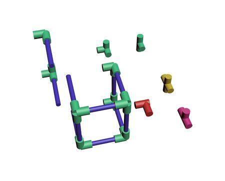 Build a plastic lattice 3D