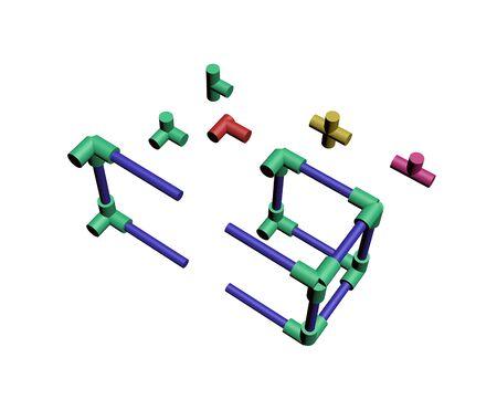 Build a plastic lattice 3D Stock Photo - 83589421