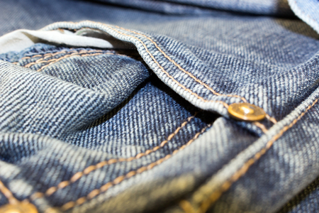 different parts of old jeans background or texture Stock Photo