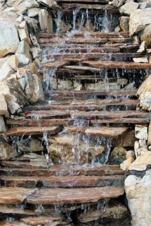 Beautiful multi-layered waterfall photo