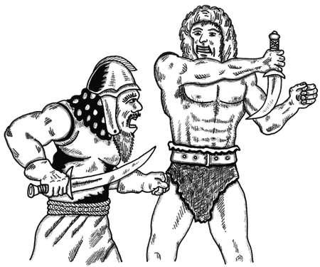 Sword Fight Ilustrace
