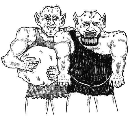 Giant Twins Ilustracja