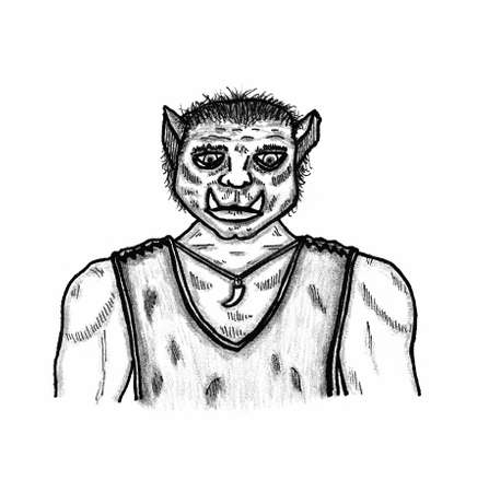 role: Orc with tooth Illustration