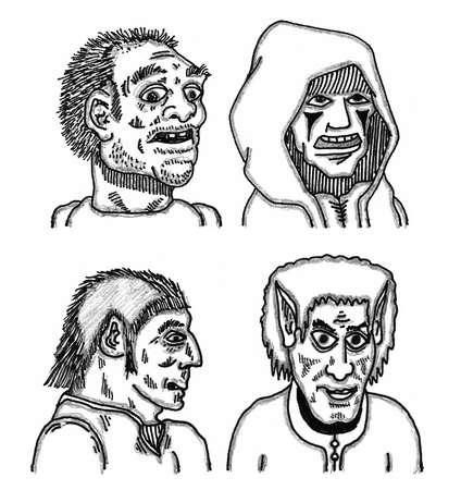 Character Group Ilustração