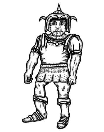 kindred: Half-Orc Illustration