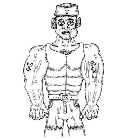 tatoos: Sailor Man Illustration