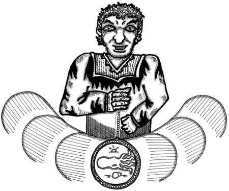 snake charmer: Hypnotist Illustration