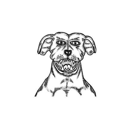 dog bite: Cane da guardia Vettoriali