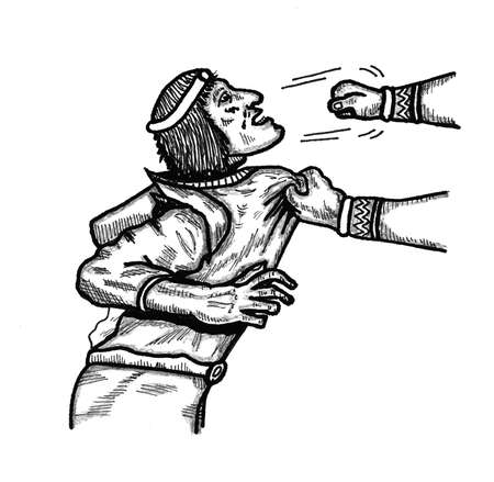 grabbing: Punch to the face Illustration