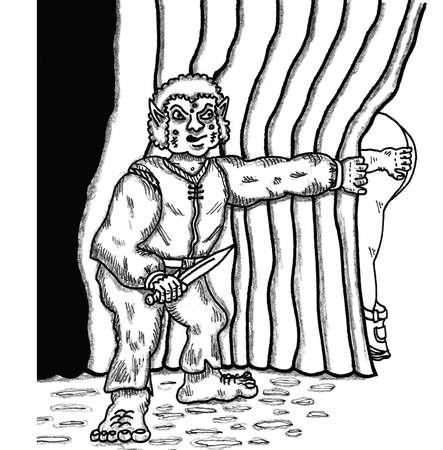 sneak: Hobbit Assassin Illustration