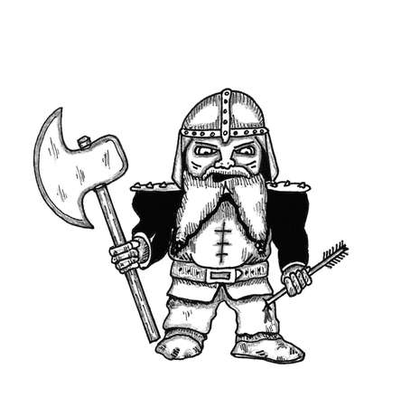Battle Dwarf Ilustracja