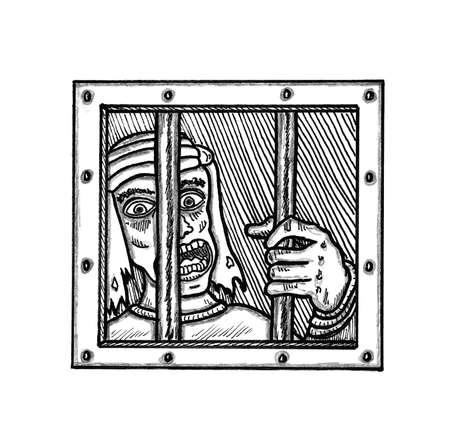 jail cell: Prison Cell Illustration
