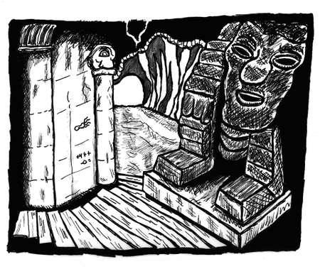 dungeon: Dungeon Shrine Illustration