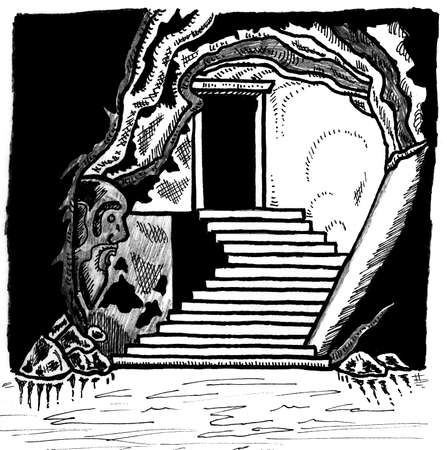role: Dungeon Exit Illustration