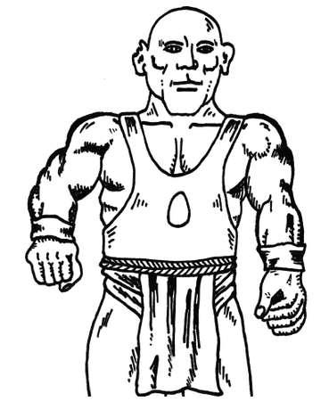 body guard: Fist Fighter Illustration