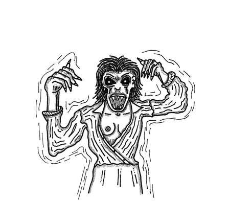 encounter: Undead Woman Vettoriali