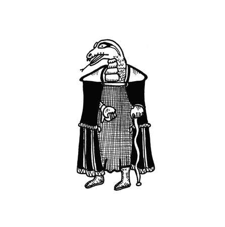 kindred: Snakeman Illustration
