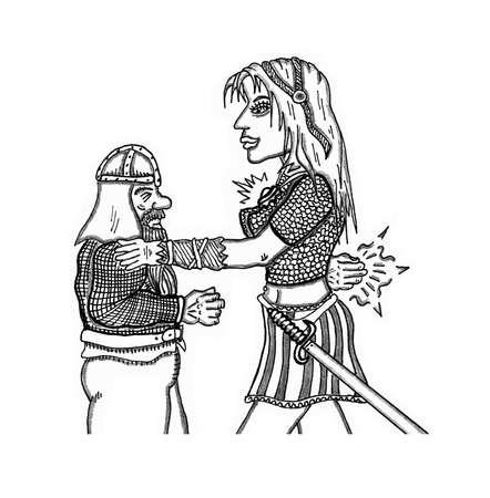 Wizardess Casting A Spell Illusztráció