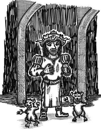 caller: Rat Master Illustration