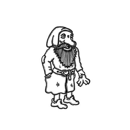 Dwarf Sneezie Ilustrace