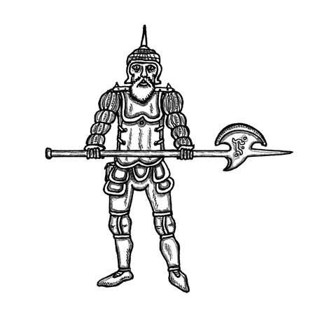 alabarda: Guardia cittadina con Alabarda Vettoriali
